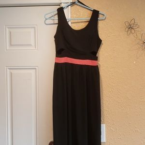 Long dress with cut outs